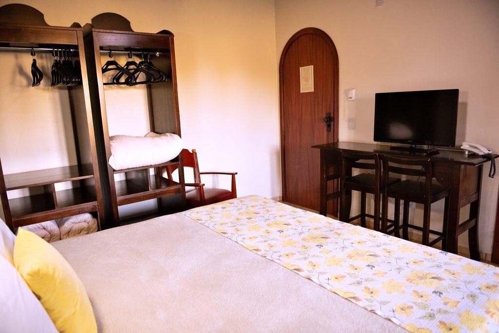 vista dos quartos tenondé park hotel sao miguel das missões pousada