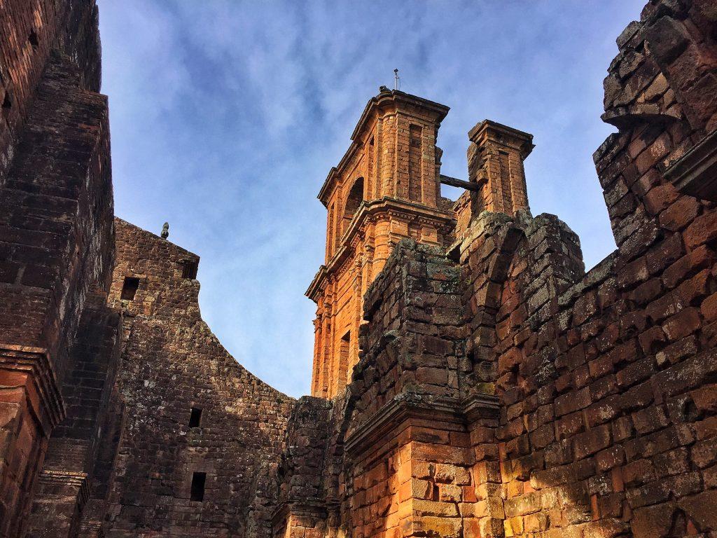 ruinas de são miguel vistas de dentro