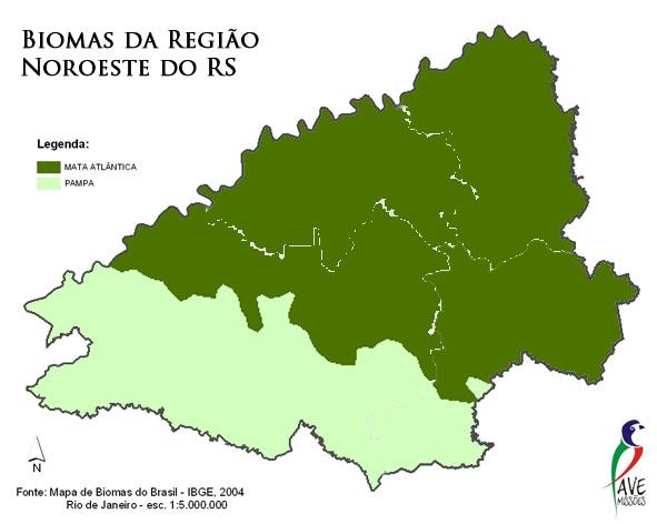 mapa dos biomas da região das missões