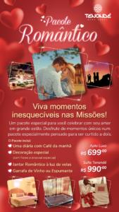 pacote romantico são miguel das missões